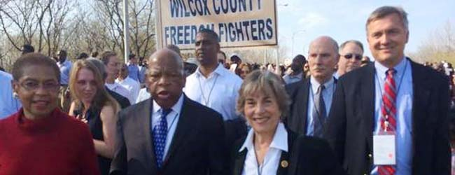 Rep. Jan Schakowsky Joined President Obama, Rep. John Lewis and Others in Selma, Alabama in Honor of the Voting Rights Act