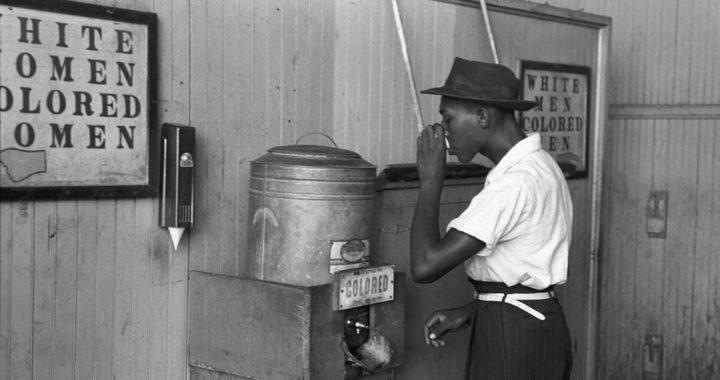 Racism - Black Man at Black Only Water Cooler