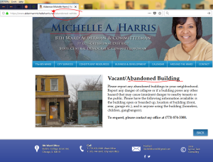 page from Michelle Harris site that was changed