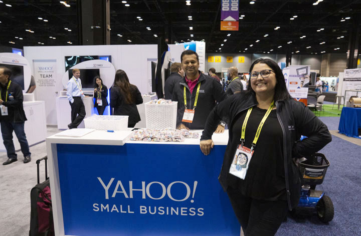 yahoo reps at yahoo booth