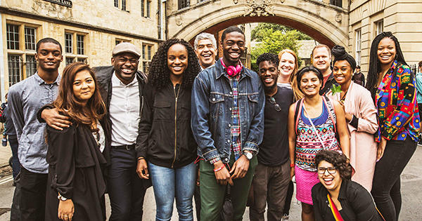 The 2017 Frederick Douglass Global Fellows with faculty in Oxford, England