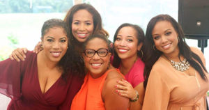 five black women posing together for Host committee of women entrepreneurs bring African American-owned wineries to Martha's Vineyard
