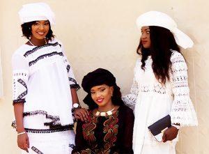 Three women modeling clothing - www.afrizar.com