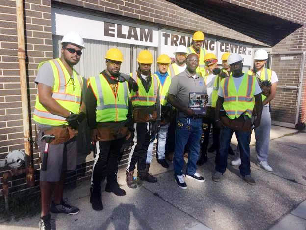 Community Builder Students with Instructor Adonis Elam of Elam Construction