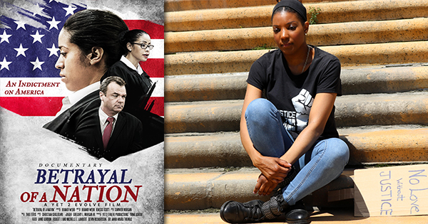"""Filmmaker Brandi Webb seeks distribution for her experimental documentary entitled, """"Betrayal of a Nation,"""" that brings charges to U.S. Government for Federal and State crimes."""
